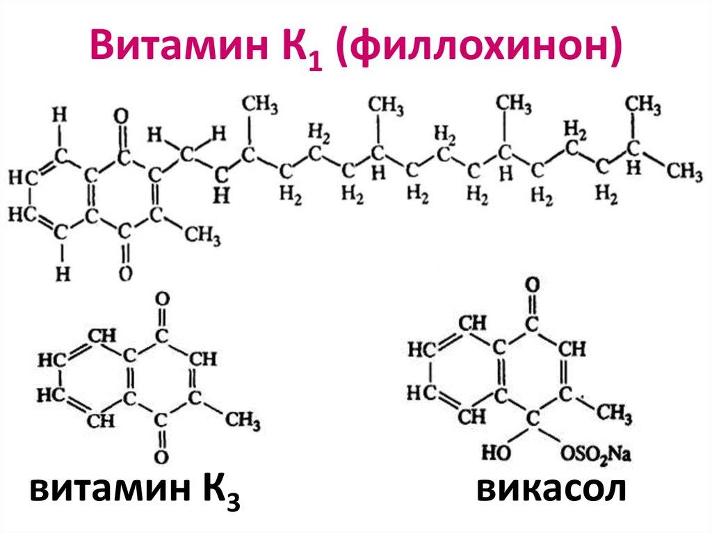 Медпрепараты содержащие витамин к