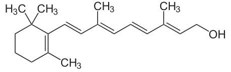 Формула молекулы витамина А
