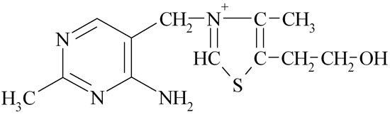 Формула молекулы витамина B1