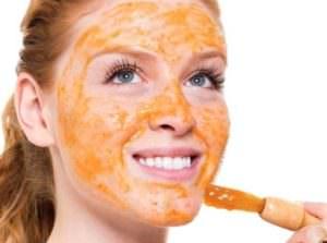 Нанесение оранжевой маски